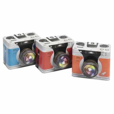 Goedkope opbergblik camera blauw