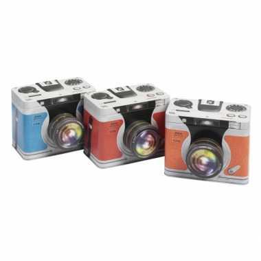 Goedkope opbergblik camera oranje