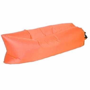 Goedkope opblaasbaar loungebed/luchtbed oranje