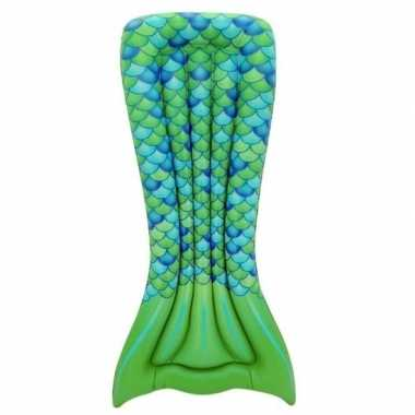 Goedkope opblaasbaar luchtbed zeemeermin staart groen