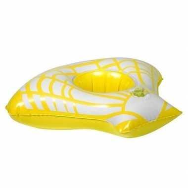 Goedkope opblaasbare drankhouder gele zeeschelp