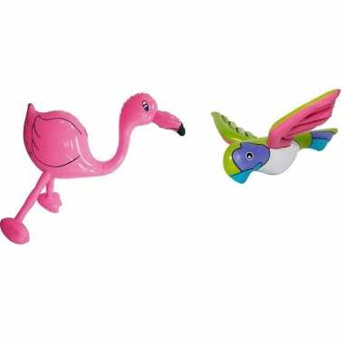 Goedkope opblaasbare flamingo papegaai