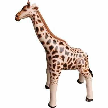 Goedkope opblaasbare giraffe decoratie/speelgoed