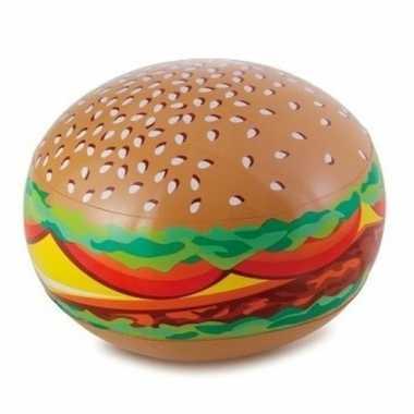 Goedkope opblaasbare hamburger strandbal
