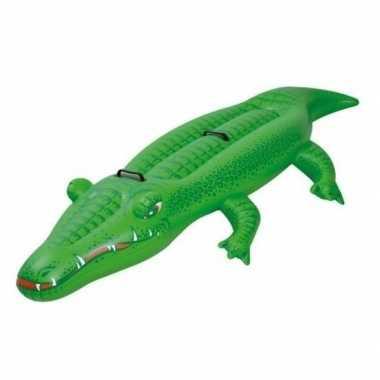 Goedkope opblaasbare krokodil ride on speelgoed