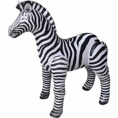 Goedkope opblaasbare zebra decoratie/speelgoed