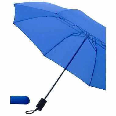 Goedkope opvouwbare paraplu blauw