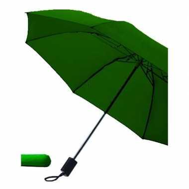 Goedkope opvouwbare paraplu donkergroen