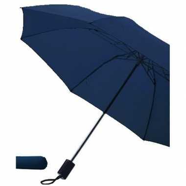 Goedkope opvouwbare paraplu navy blauw
