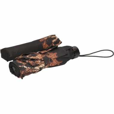 Opvouwbare paraplu zwart/luipaard dieren goedkope