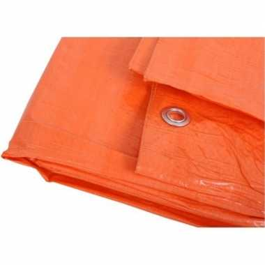 Goedkope oranje afdekzeil / dekzeil meter