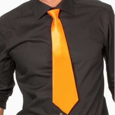 Goedkope oranje fan stropdas verkleedaccessoire dames/heren
