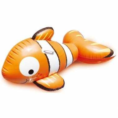 Goedkope oranje opblaasbare clown vis dieren ride on cm