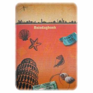 Goedkope oranje reisdagboek/reisplanner