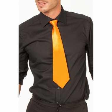 Goedkope oranje stropdas verkleedaccessoire dames/heren