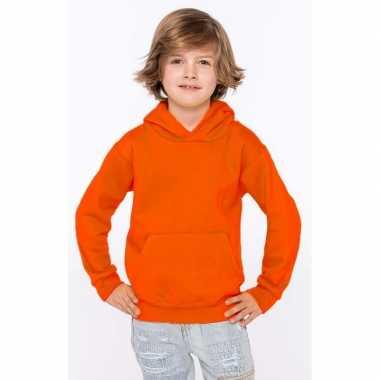 Goedkope oranje sweater/trui hoodie jongens