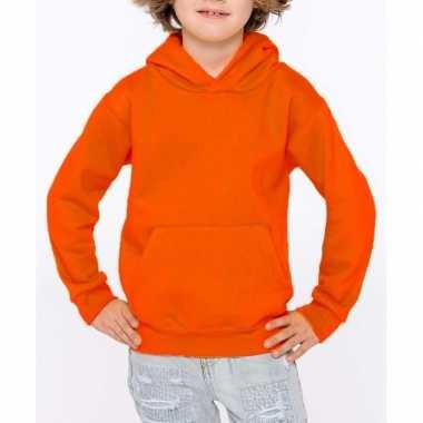 Goedkope oranje sweater/trui hoodie meisjes