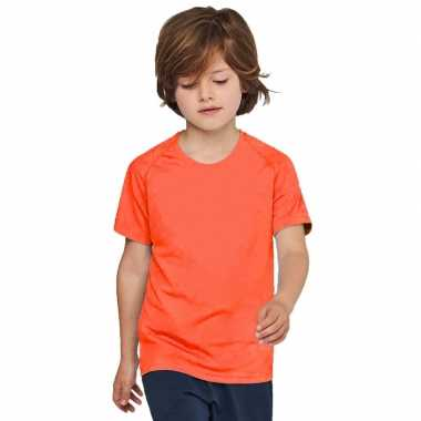 Goedkope oranje t shirt/sportshirt kinderen