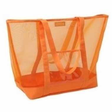 Goedkope oranje transparante strandtas