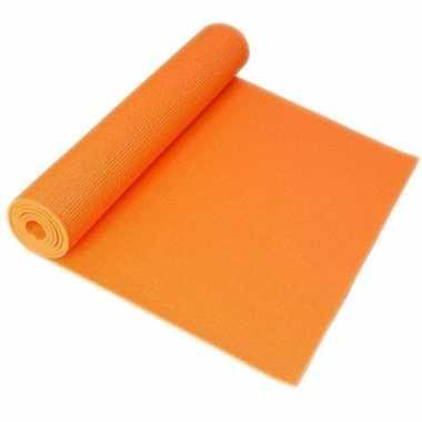 Goedkope oranje yogamat/sportmat