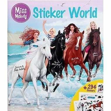 Goedkope paarden sticker kleurboek miss melody