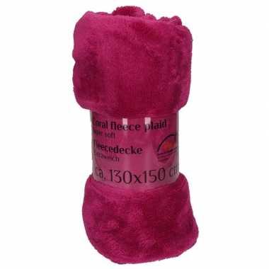 Goedkope paarse fleece deken