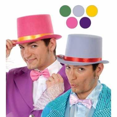 Goedkope paarse hoge hoed vilt volwassenen