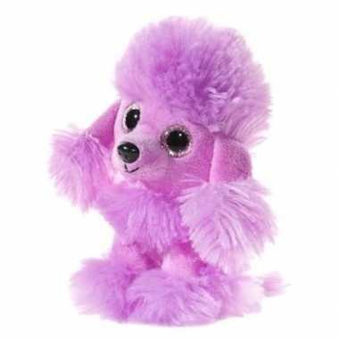 Goedkope paarse pluche poedel honden knuffel