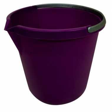 Goedkope paarse schoonmaak emmer liter
