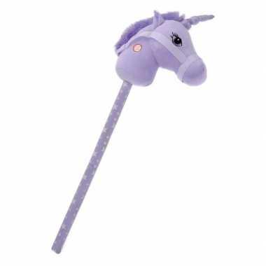 Goedkope paarse stokpaard eenhoorn geluid
