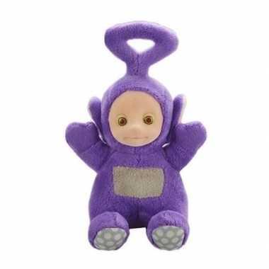 Goedkope paarse teletubbie tinky winky knuffel/pop geluid