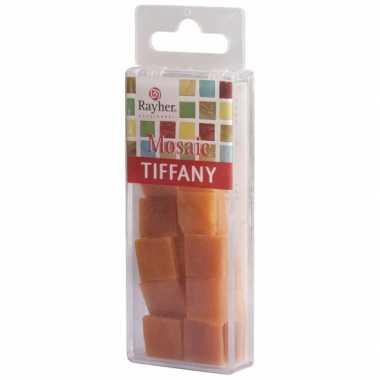 Goedkope pakje mozaiek stenen marmer oranje
