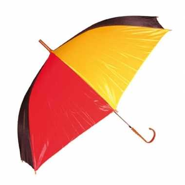Goedkope paraplu rood/geel/zwart