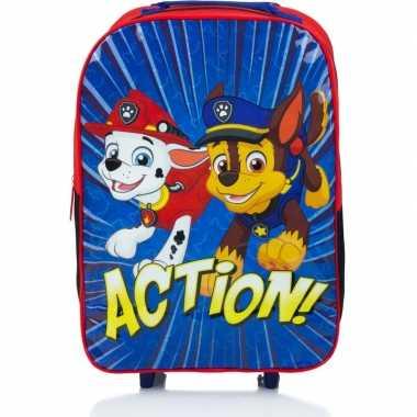 Goedkope paw patrol handbagage reiskoffer/trolley kinderen