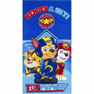 Goedkope paw patrol heroes badlaken/strandlaken blauw