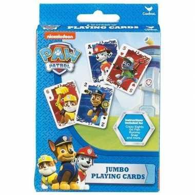 Goedkope paw patrol jumbo speelkaarten