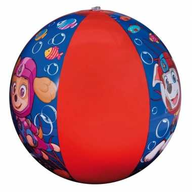 Goedkope paw patrol opblaasbare speelgoed strandbal blauw/rood