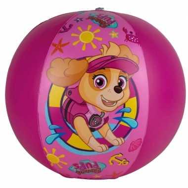 Goedkope paw patrol opblaasbare speelgoed strandbal fuchsia roze