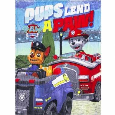 Goedkope paw patrol pups fleece deken jongens