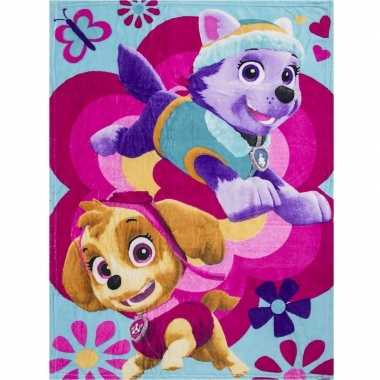 Goedkope paw patrol skye everest fleece deken/plaid meisjes