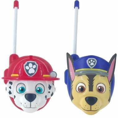 Goedkope paw patrol walkie talkies jongens/meisjes