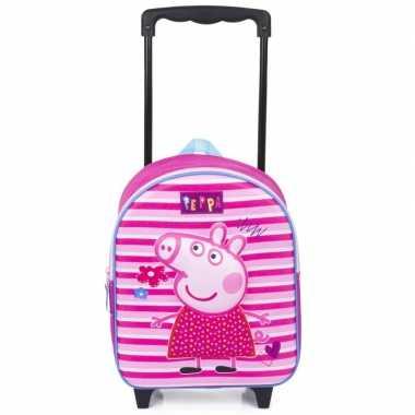 Goedkope peppa pig d handbagage reiskoffer/trolley kinderen