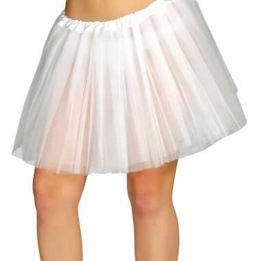 Goedkope petticoat/tutu verkleed rokje wit dames