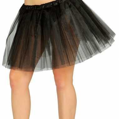 Goedkope petticoat/tutu verkleed rokje zwart dames