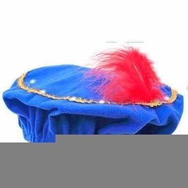 Goedkope pieten baret blauw led verlichting kinderen | Goedkope.info