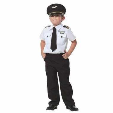 Goedkope piloot verkleed kostuum jongens