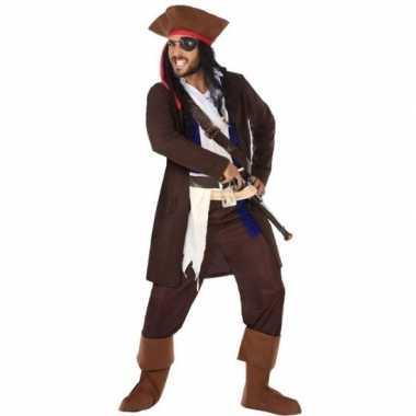 Goedkope piraat christopher verkleed pak/kostuum heren