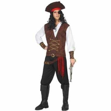 Goedkope piraat lewis verkleed pak/kostuum volwassenen