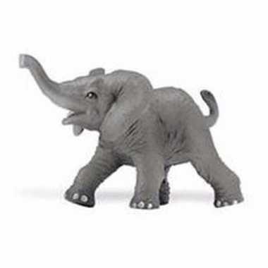 Goedkope plastic afrikaanse olifant kalf gestrekte slurf