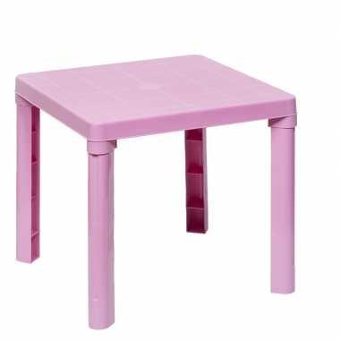 Goedkope plastic roze tafeltje